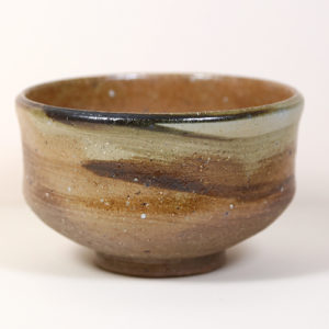 Earth Tone Matcha Bowl with Swirl
