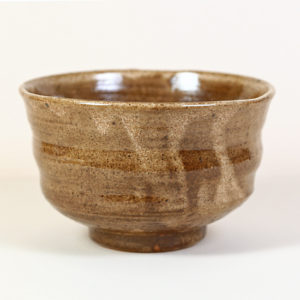 Brown &Tan Matcha Bowl with Black Speckles