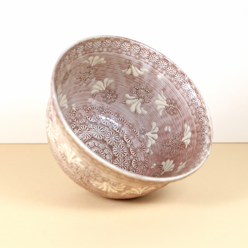 Pink/Brown 'Illusion' Matcha Bowl