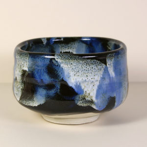 Blue, Black & Cream Matcha Bowl