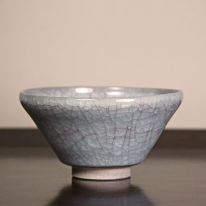 Japanese Pale Grey Crackle Glaze Matcha Bowl