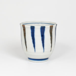 Japanese Porcelain Tapering Lines Teacup