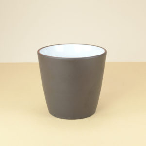 Chinese Yixing Tall Dark Brown Glazed Teacup