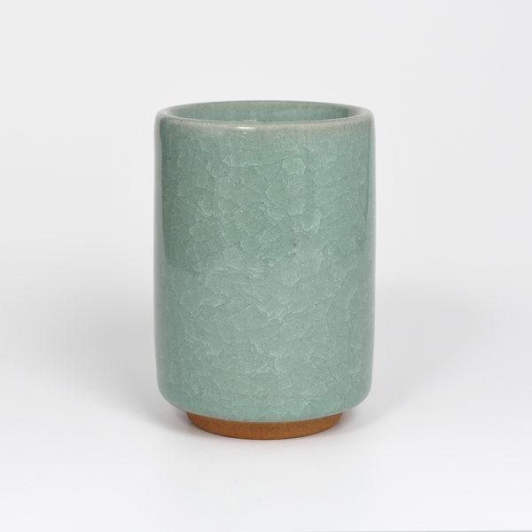 Japanese Celedon Crackle-Glazed Teacup