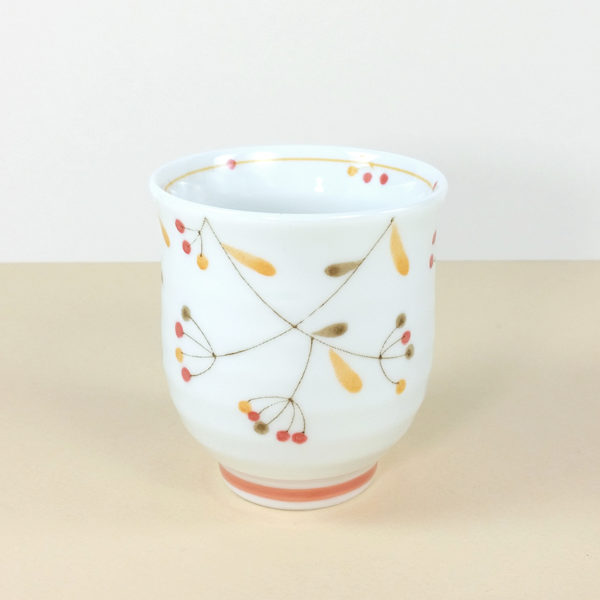 Japanese Porcelain Orange Tree Fruit Teacup