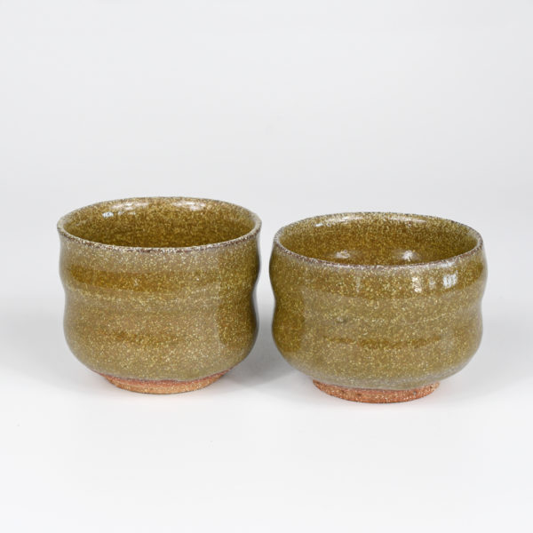 Olive Green-Bronze Colored Teacups