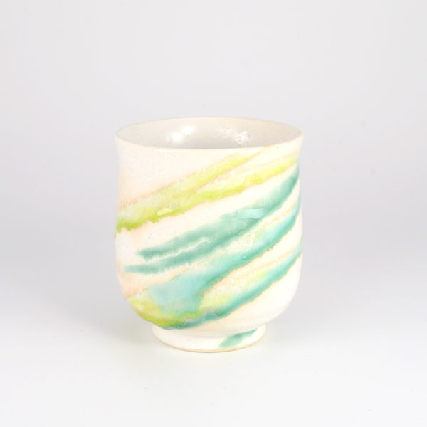 Japanese Colorful Flowing Glaze Teacup