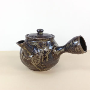 Dark Brown Rustic Mashiko Teapot