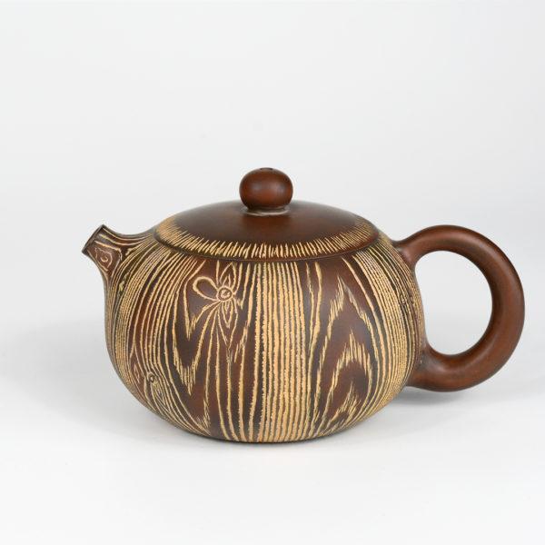 Qinzhou Wood Grain Teapot