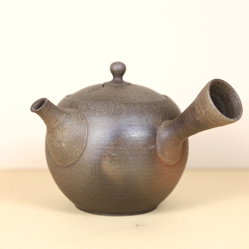 Japanese Tokoname Teapot with Colorful Flashing