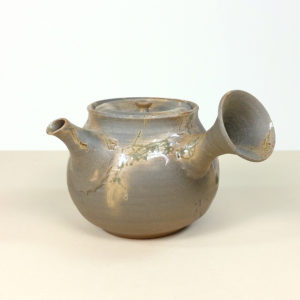 Japanese Tokoname Grey Smooth Mogake Teapot