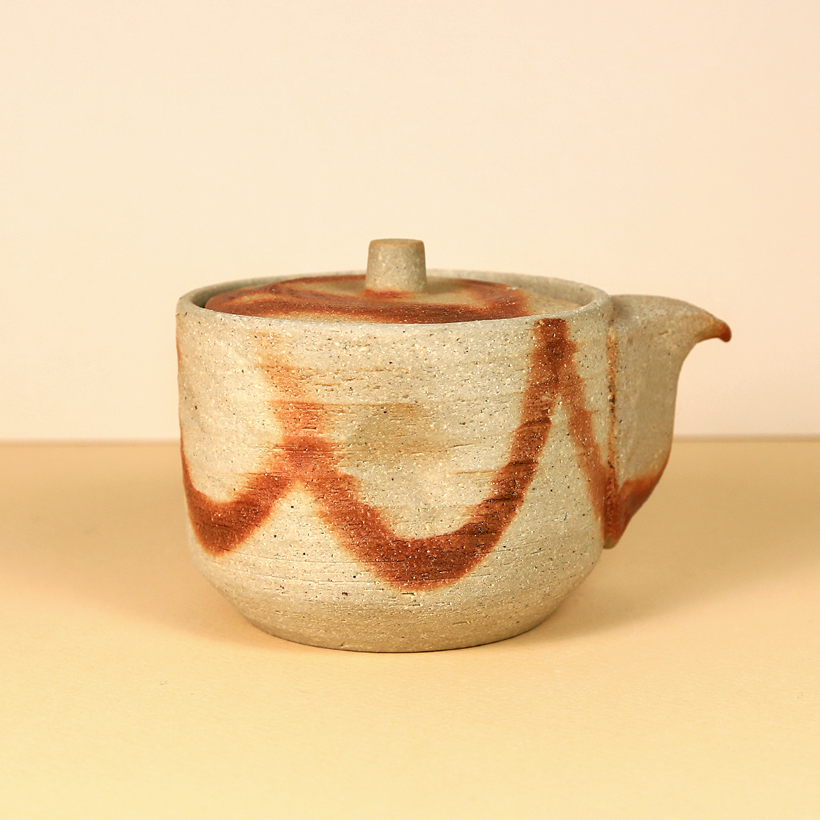 Japanese Rustic Houhin with Red Marks